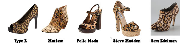 affordable animal print shoes