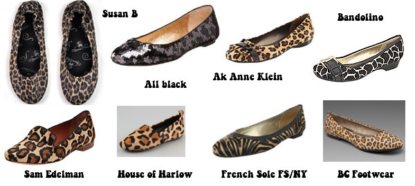 Ballerina animal print shoes