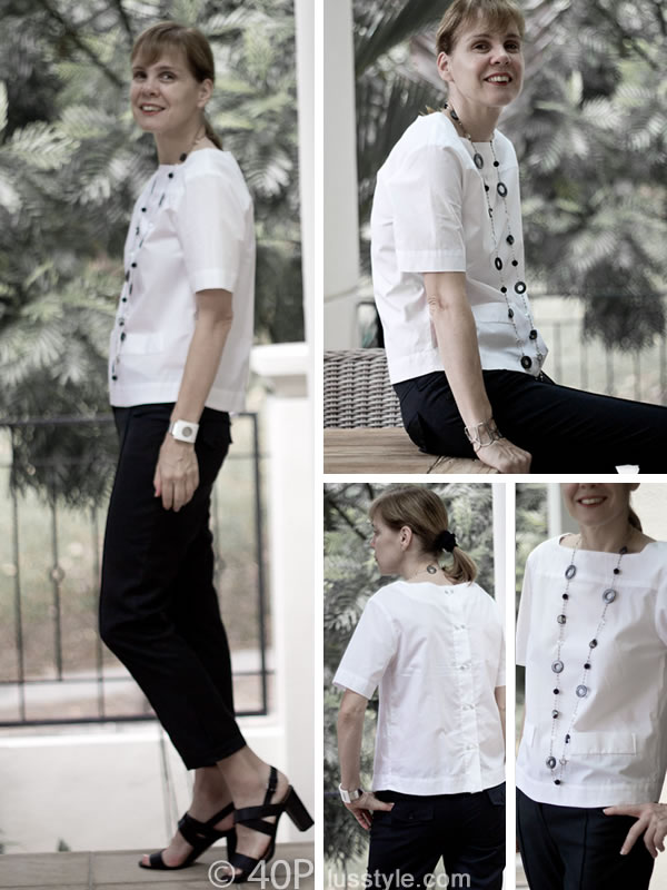 black and white zara shirt alldressedup pants