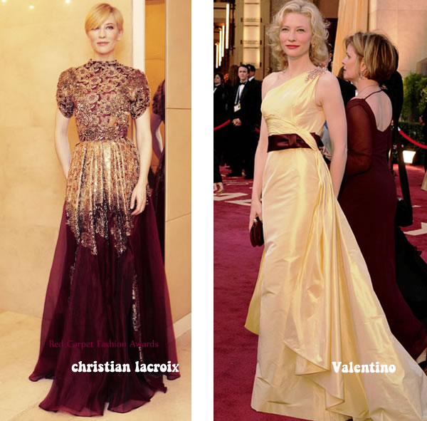 Cate blanchett style icon wearing high glamour gowns