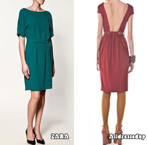 Dresses with lower hemlines