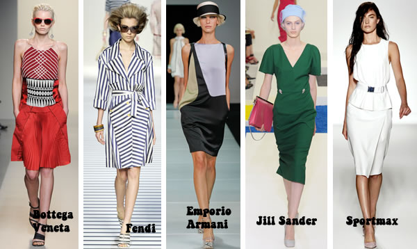 Favorite dresses for women over 40 from the spring 2012 italian collections