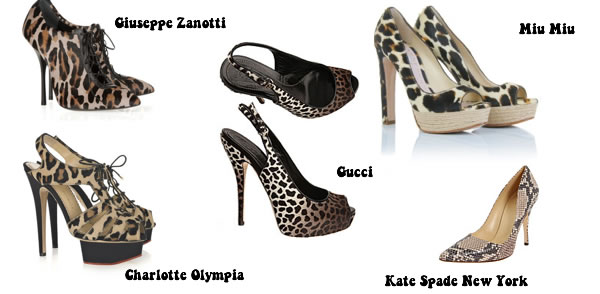 Animal print shoes - my favorite top designers shoes with animal prints