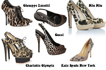 Animal print shoes - my favorites from top designers