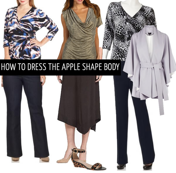 how to dress apple body shape