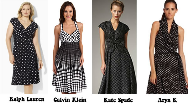 Polka dot dresses suitable for the over 40 woman