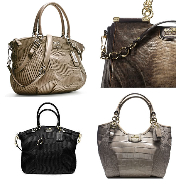coach handbags natural colors madison