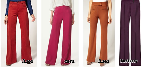 Flared pants - flared trousers with color and style
