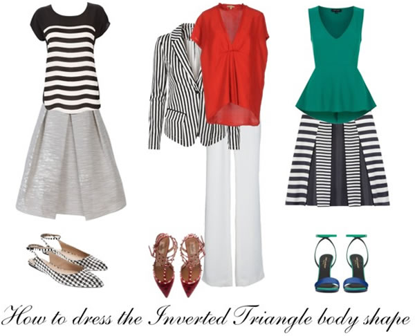 How to dress the inverted triangle body type | 40PlusStyle.com
