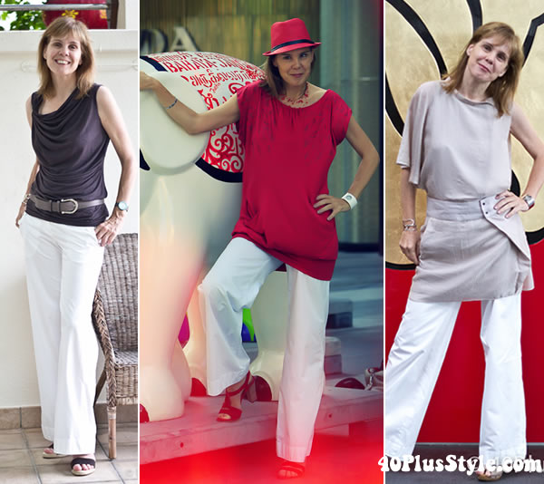Tips on how to wear wide legged pants and ideas for flared pants ...