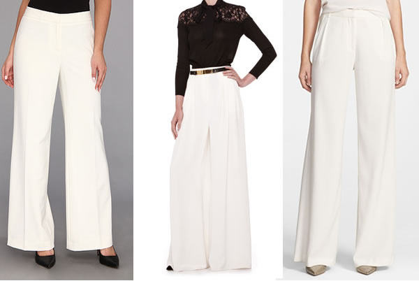 white wide legged pants you can buy online | 40PlusStyle.com