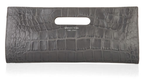 Michael Kors Tilda clutch crocodile effect