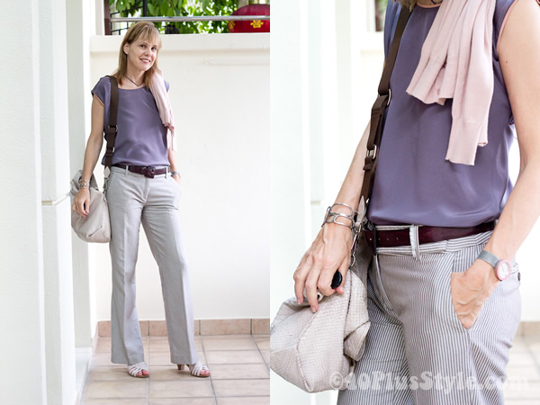 Purple silk top from Alldressedup great as basic and special top