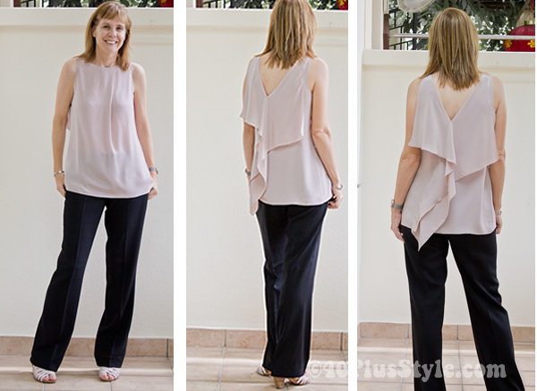 silk pink top from alldressedup
