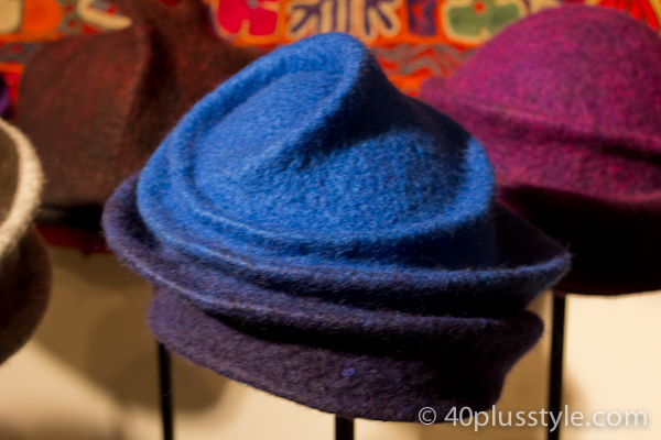 Blue felt fancy hat
