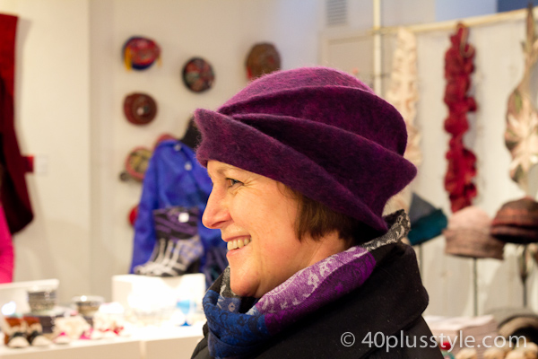 Purple felt hat