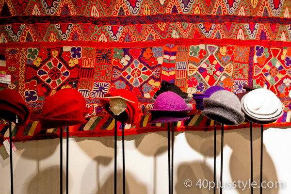 Felt hats in beautiful colors found in Amsterdam