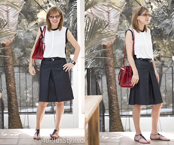 What To Wear With An A Line Skirt | Jill Dress