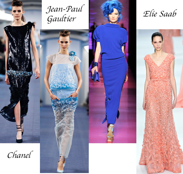 Best evening gowns chanel Elie saab Jean Paul Gaultier