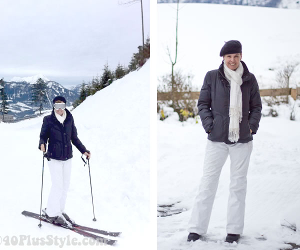 Black and white ski clothes