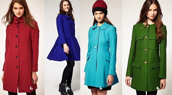 Colorful Asos winter coats
