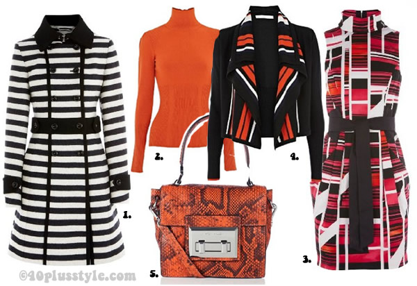 Karen Millen coats, cardigans and colors