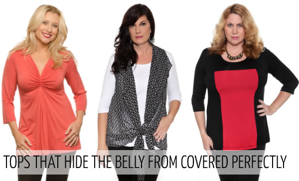 How to hide your tummy with the right tops | 40plusstyle.com