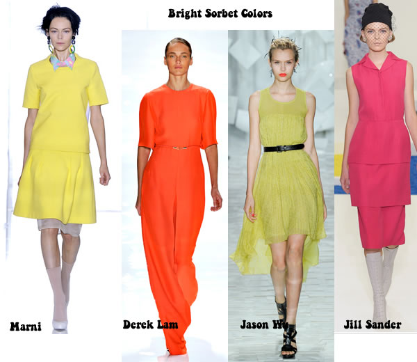 Bright sorbet colors add colour to spring