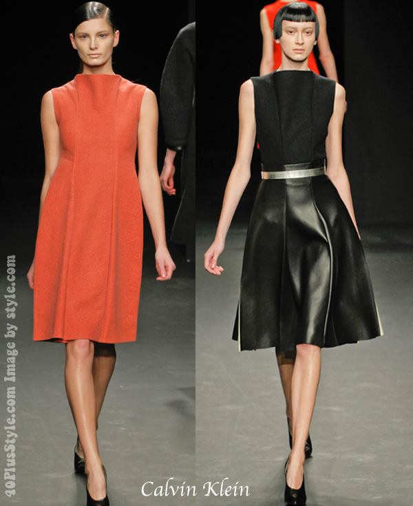 Calvin Klein Ready to Wear 2012 fall collection - dresses for women over 40