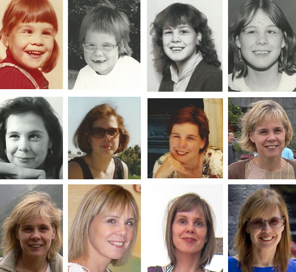 hairstyles over more than 40 years