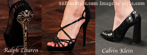 High heeled shoes from Ralph Lauren and Calvin Klein