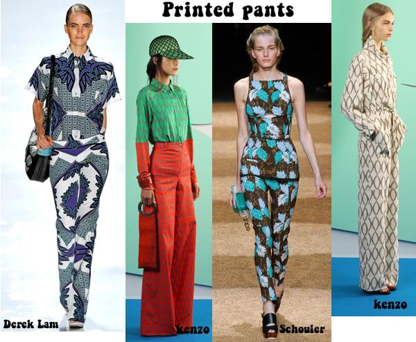 printed pants spring 2012 trend