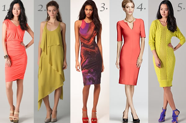 Bright colours trend for Spring 2012