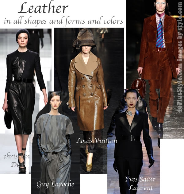 Fall 2012 trends leather