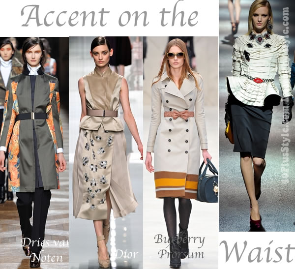 trends for fall and winter 2012 - accent on the waist