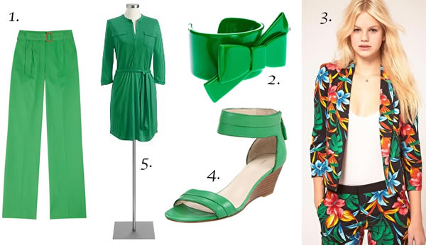 Green outfits for Spring 2012