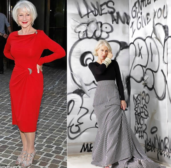 Style icon Helen Mirren Possibly the best dresses women over 40