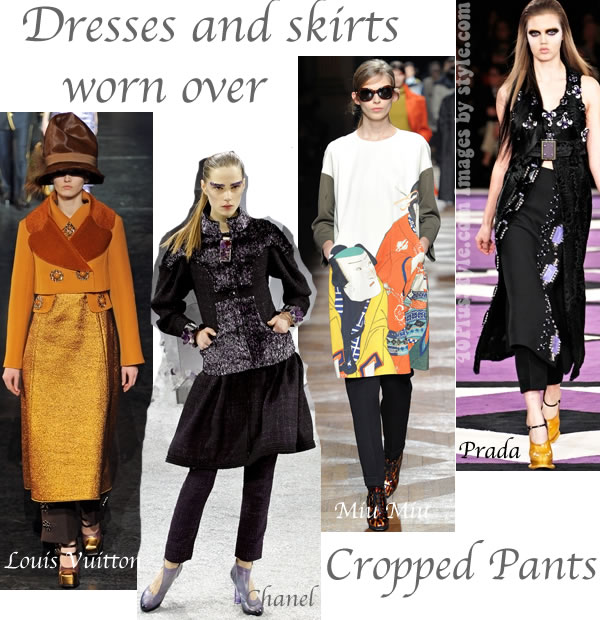 Trends for fall 2012 wearing dresses over pants