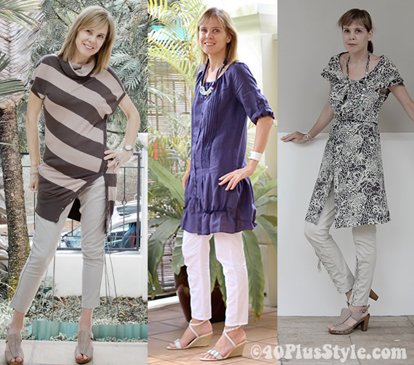 Wearing capris with tunics | 40plusstyle.com