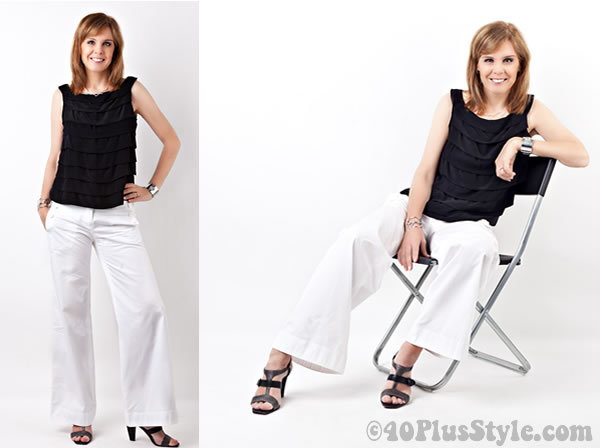 professional photos black and white outfit