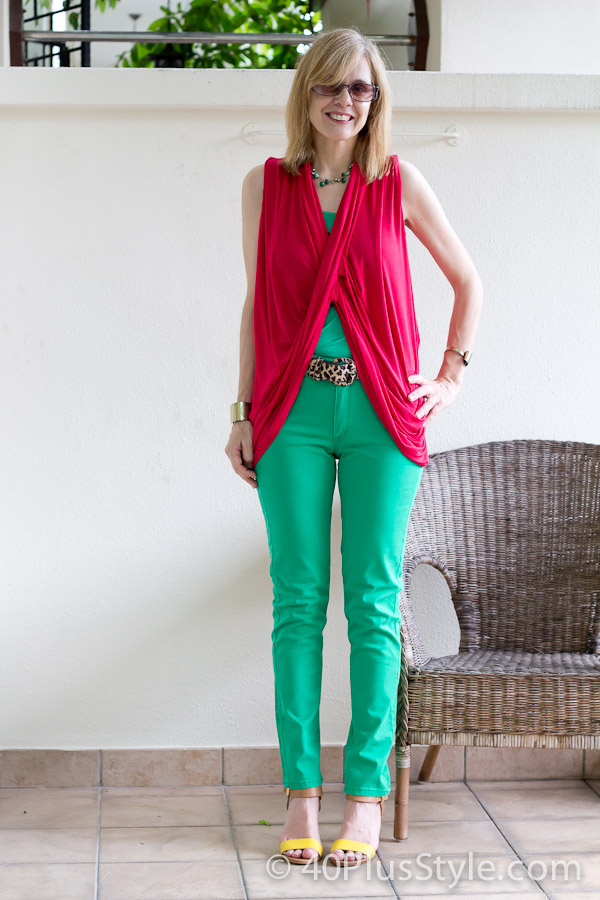Wearings green and blue - 2012 brights trend