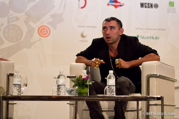 Nicola Formicetti at Asia Fashion Summit in Singapore