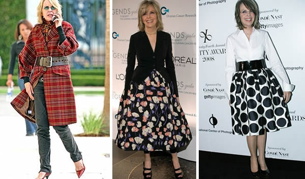Diane Keaton wearing skirts