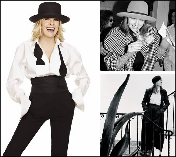 Post image for Style icon: Diane Keaton – Champion of the dandy style