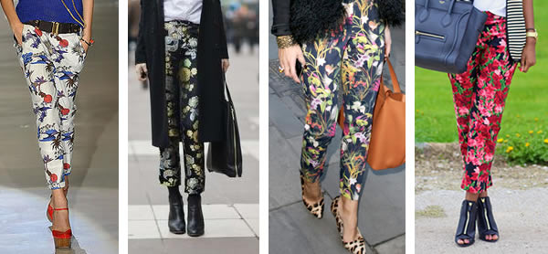 How to wear floral pants over 40
