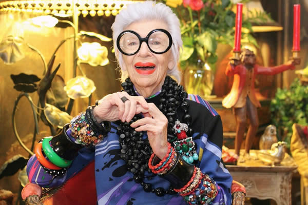 style icon iris apfel inspiring women of all ages. Black Bedroom Furniture Sets. Home Design Ideas