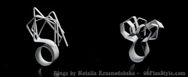 Sculptural rings by Natalia Krasnodebska