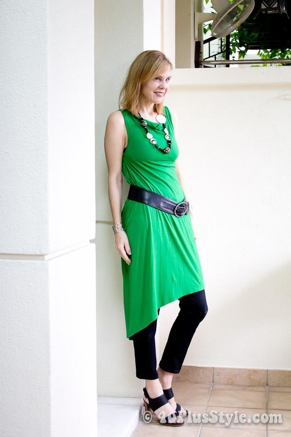 Remixing a green wrap dress