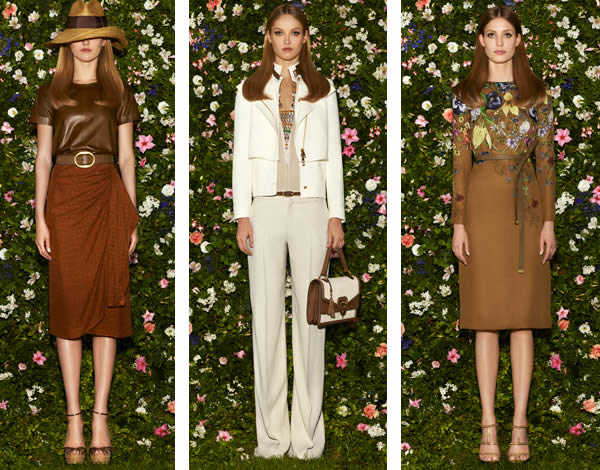 Gucci s collection was all about flowers and rustic tones. And if