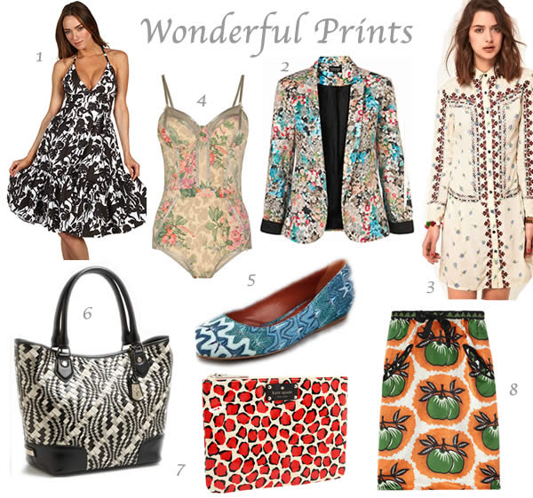 Prints summer fashion trend